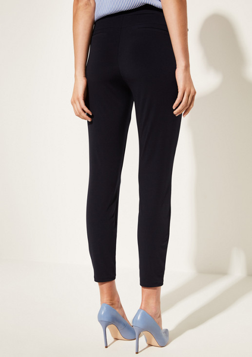 Lightweight jersey trousers with a belt from comma