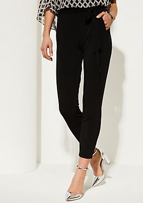 Soft business trousers with a fabric belt from comma