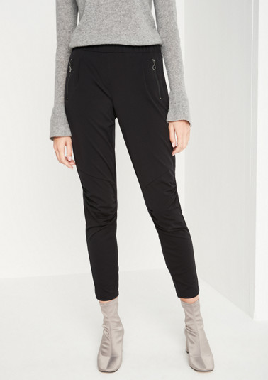 Sporty 7/8-length business trousers from comma