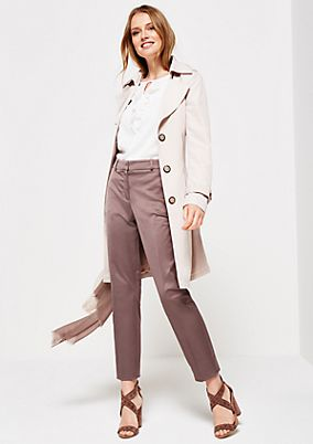 Satin trousers with a matte sheen and wonderful details from comma