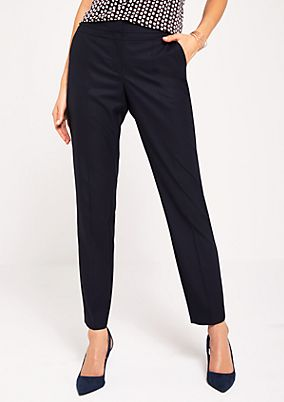 Business trousers with a minimalist tonal pattern from s.Oliver