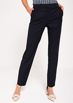 Elegant business trousers with pinstripes from s.Oliver