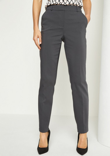 Business trousers with a minimalist pattern from comma
