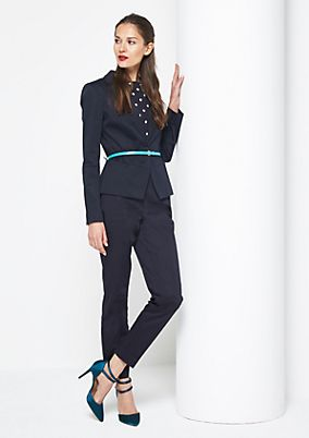 Business trousers with a matte sheen from comma