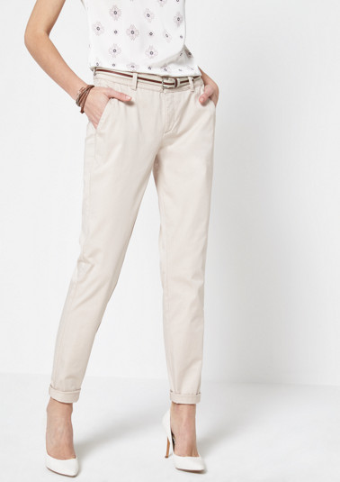 Chinos with a striped belt from comma