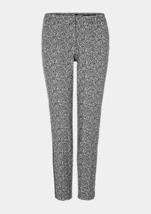 Regular Fit: Slim ankle leg-Hose im Herringbone-Design