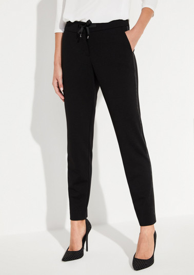 Elegant trousers with side stripes from comma