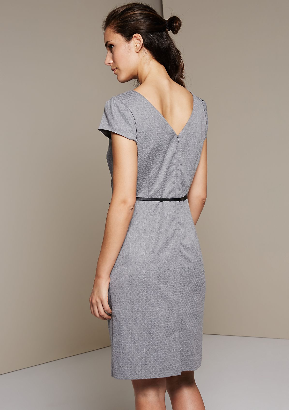 Elegant evening dress with a sophisticated tonal pattern from s.Oliver