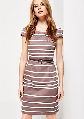 Elegant satin dress with a beautiful striped pattern from s.Oliver