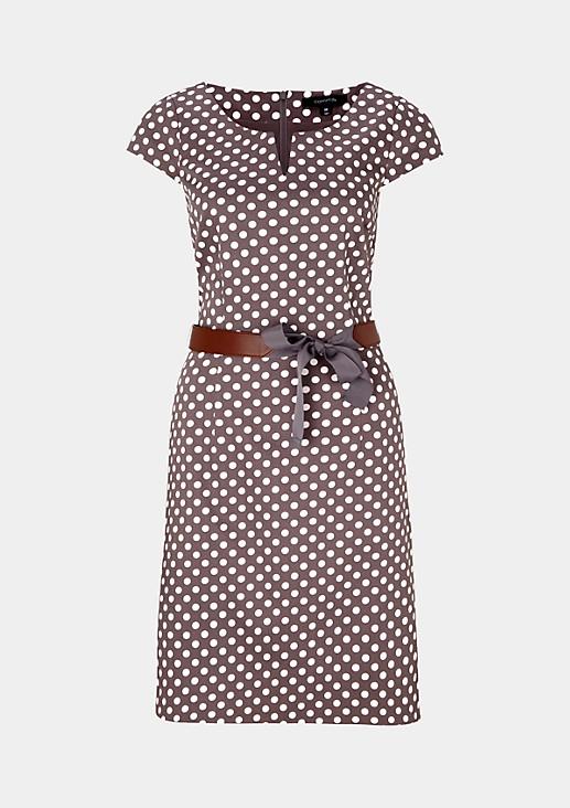 Festliches Abendkleid aus feinem Satin mit klassischem Dot-Muster
