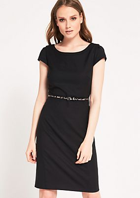 Elegant business dress with a thin belt from s.Oliver