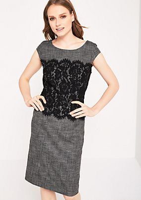 Elegant dress in a mottled black & white look from comma