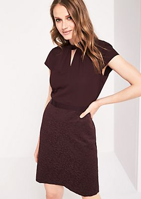 Elegant mixed fabric business dress from comma