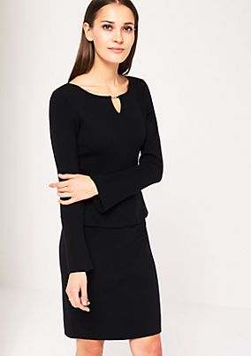 Abendkleid aus weichem Strick