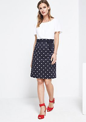 Glamorous dress with a polka dot pattern from comma
