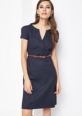 Smart business dress with a fine micro pattern from comma
