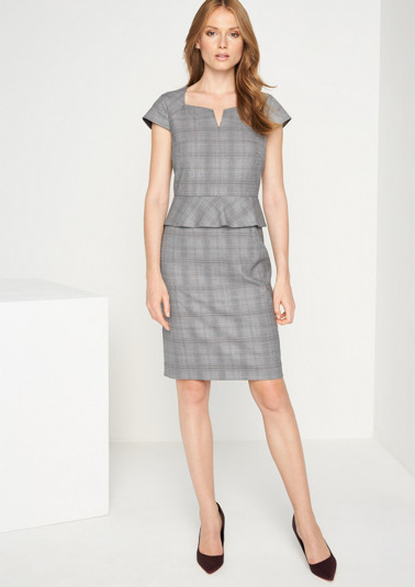 Sheath dress with a classic glencheck pattern from comma
