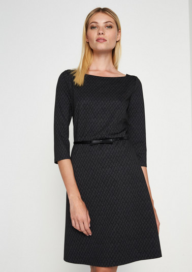 Business dress with a decorative minimalist pattern from comma