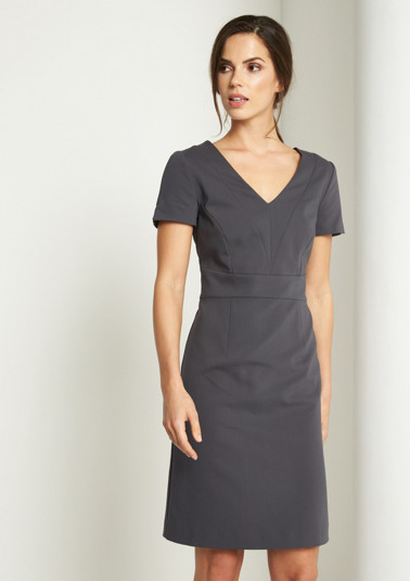Elegant business dress with short sleeves from comma