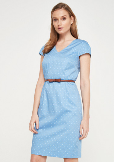 Short sleeve dress with a fine all-over pattern from comma