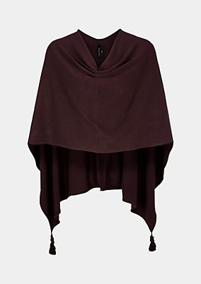 Fine knit poncho with decorative tassels from s.Oliver