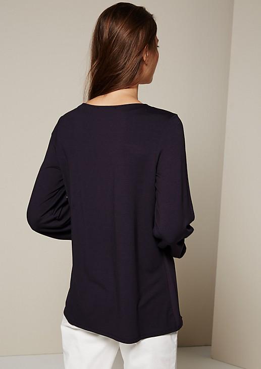 Legeres 3/4-Arm Shirt im aufregenden Materialmix