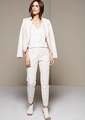 Elegante Businesspants mit feinem Jacquardmuster