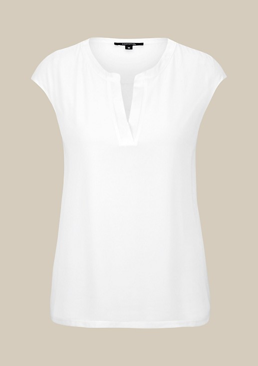 Elegant top in an attractive mix of fabrics from s.Oliver