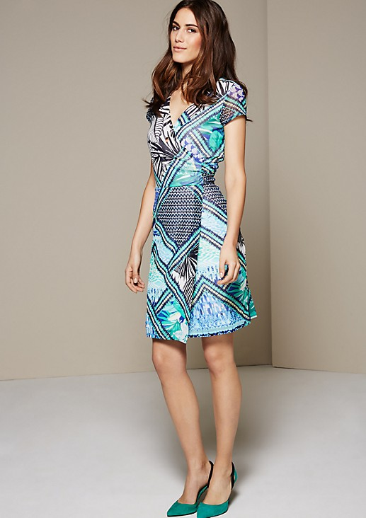 Beautiful chiffon dress with a wonderful pattern from s.Oliver