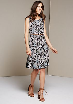 Casual, pretty dress with a colourful all-over print from s.Oliver