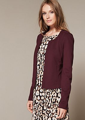 Elegant short blazer with sophisticated details from s.Oliver