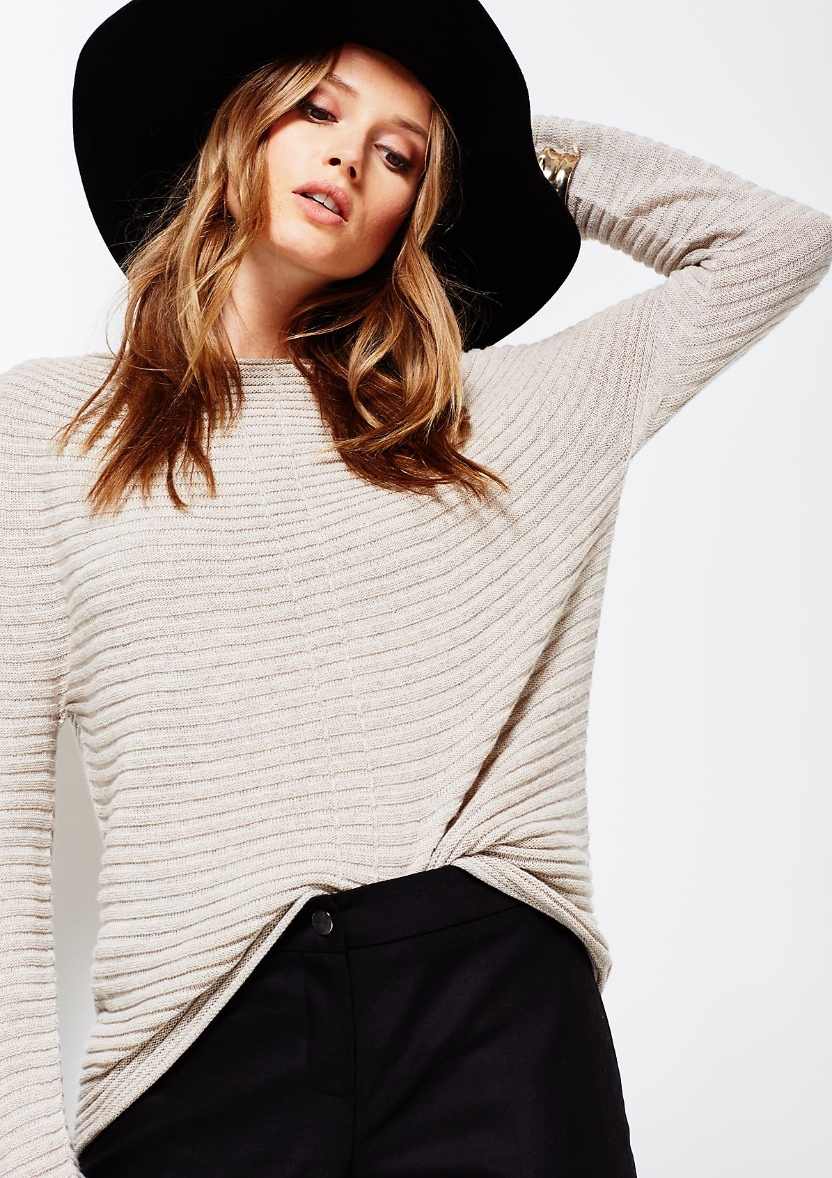 Lightweight knitted jumper in a ribbed finish from s.Oliver