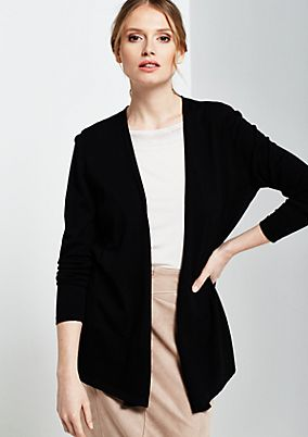 Smart cardigan with a delicate chiffon insert from s.Oliver