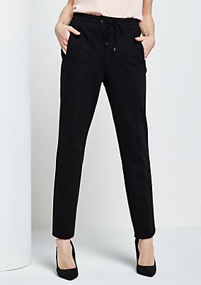 Fine casual trousers with ties from s.Oliver