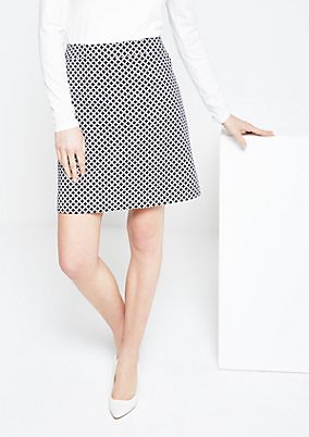 Elegant business skirt with a beautiful all-over pattern from s.Oliver