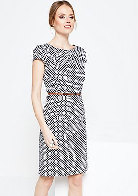 Elegant business dress with a decorative minimal pattern from s.Oliver