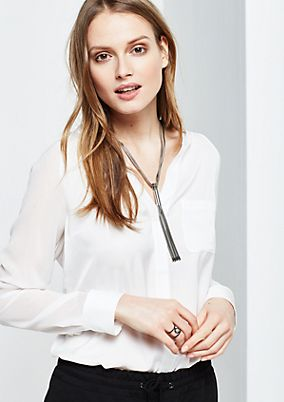 Delicate satin blouse with fine detailing from comma
