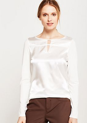 Fine long sleeve top in an exciting blend of fabrics from s.Oliver