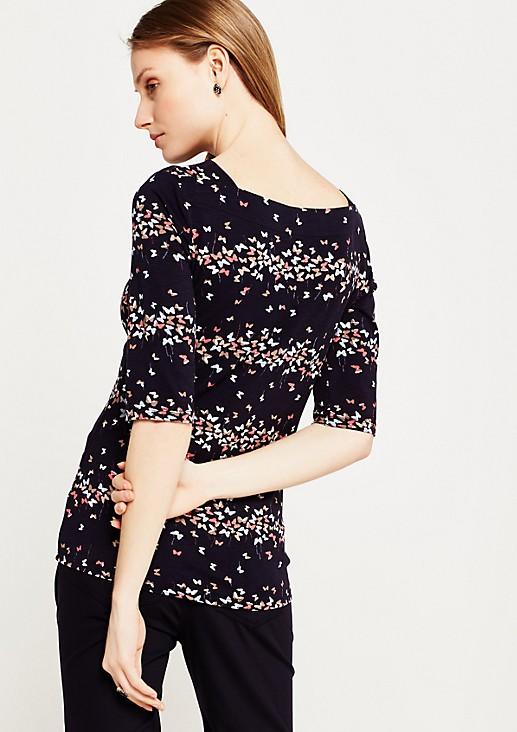 Legeres Kurzarmshirt mit dekorativem Floralprint