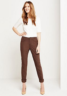 Fine twill trousers with sophisticated details from s.Oliver