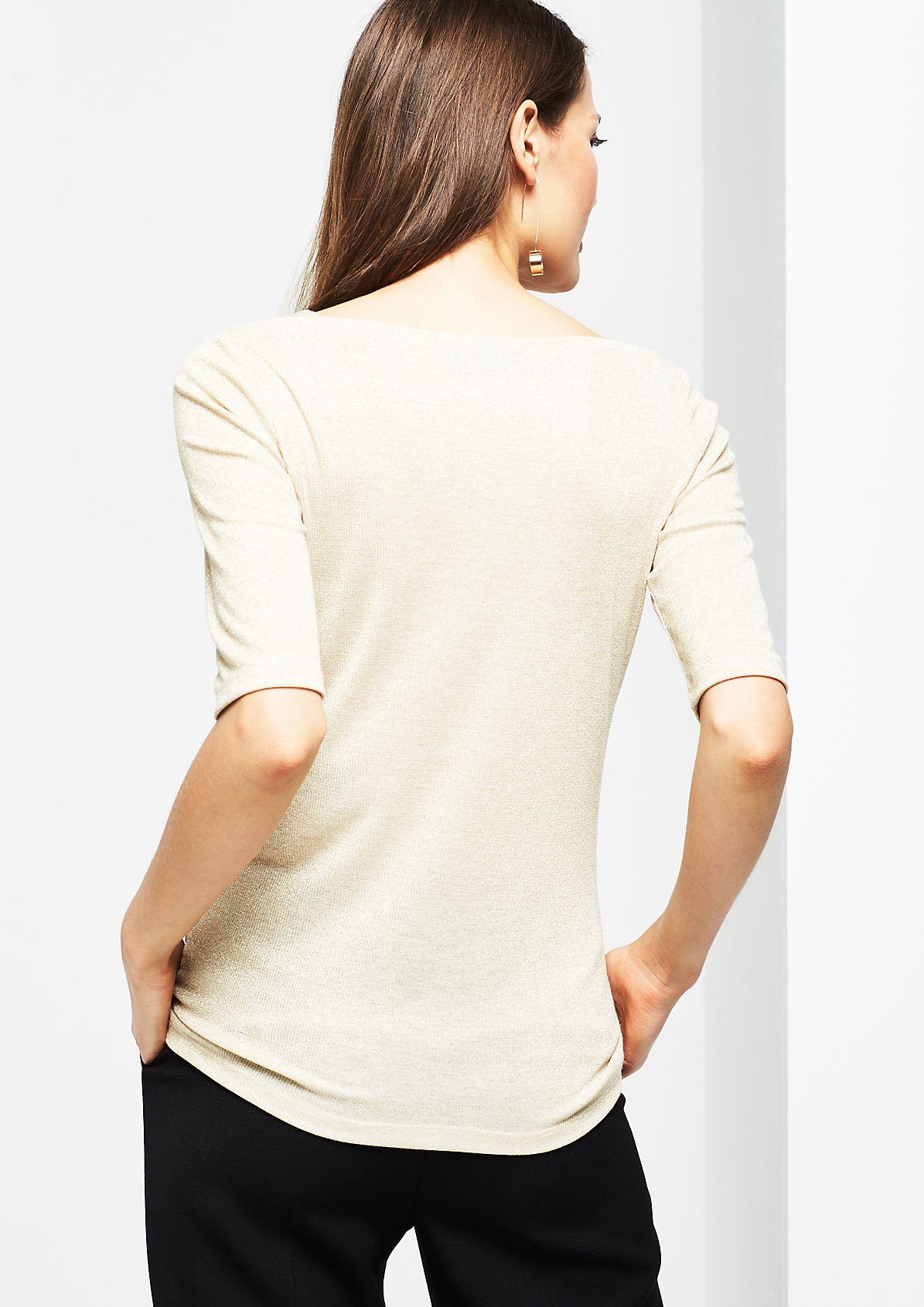 Kurzarmshirt aus glitzerndem Effektgarn