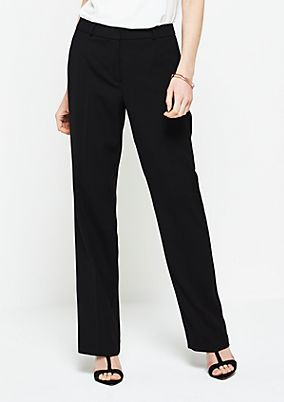 Business trousers with a fine textured pattern from s.Oliver