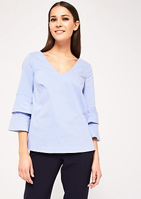 Extravagant 3/4-sleeve blouse with ties from s.Oliver