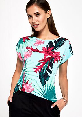 Short sleeve T-shirt with a colourful front print from s.Oliver