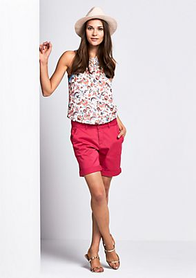 Summery satin shorts with fine details from comma