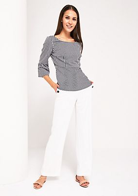 Summery blouse with 3/4-length sleeves from s.Oliver