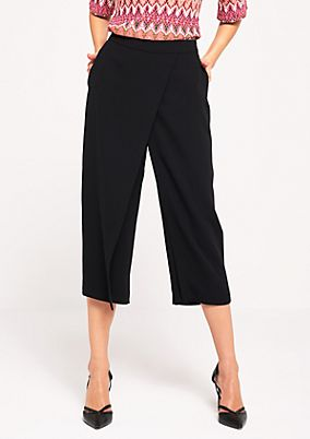 Elegant 3/4 crêpe trousers in a trouser-skirt look from s.Oliver