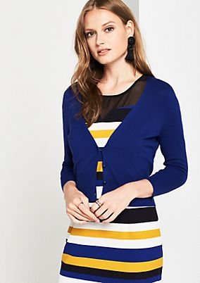 Short cardigan with 3/4-length sleeves from s.Oliver