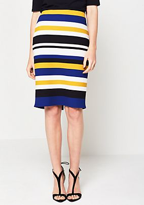 Business skirt in a classic striped design from comma