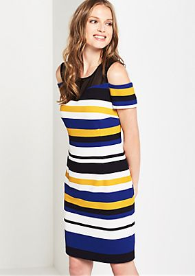 Elegant evening dress in a striped look from comma
